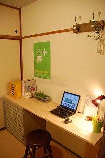 仕事部屋の机
